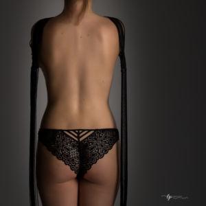 Culotte en dentelle en noire