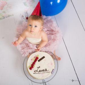 Gateau d'anniversaire première bougie